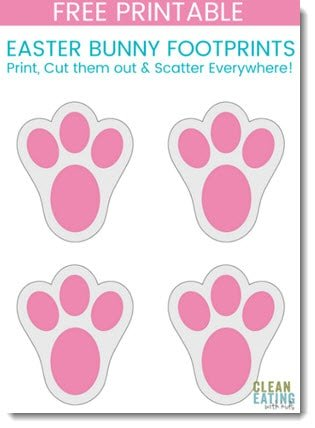 Unusual image for printable easter bunny footprints