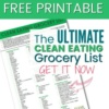 FREE PRINTABLE: Clean Eating Grocery List