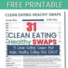 31 Clean Eating Healthy Swaps to make today.