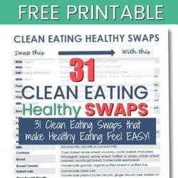 31 Easy Clean Eating Swaps