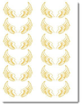 Old Fashioned image within golden snitch wings printable