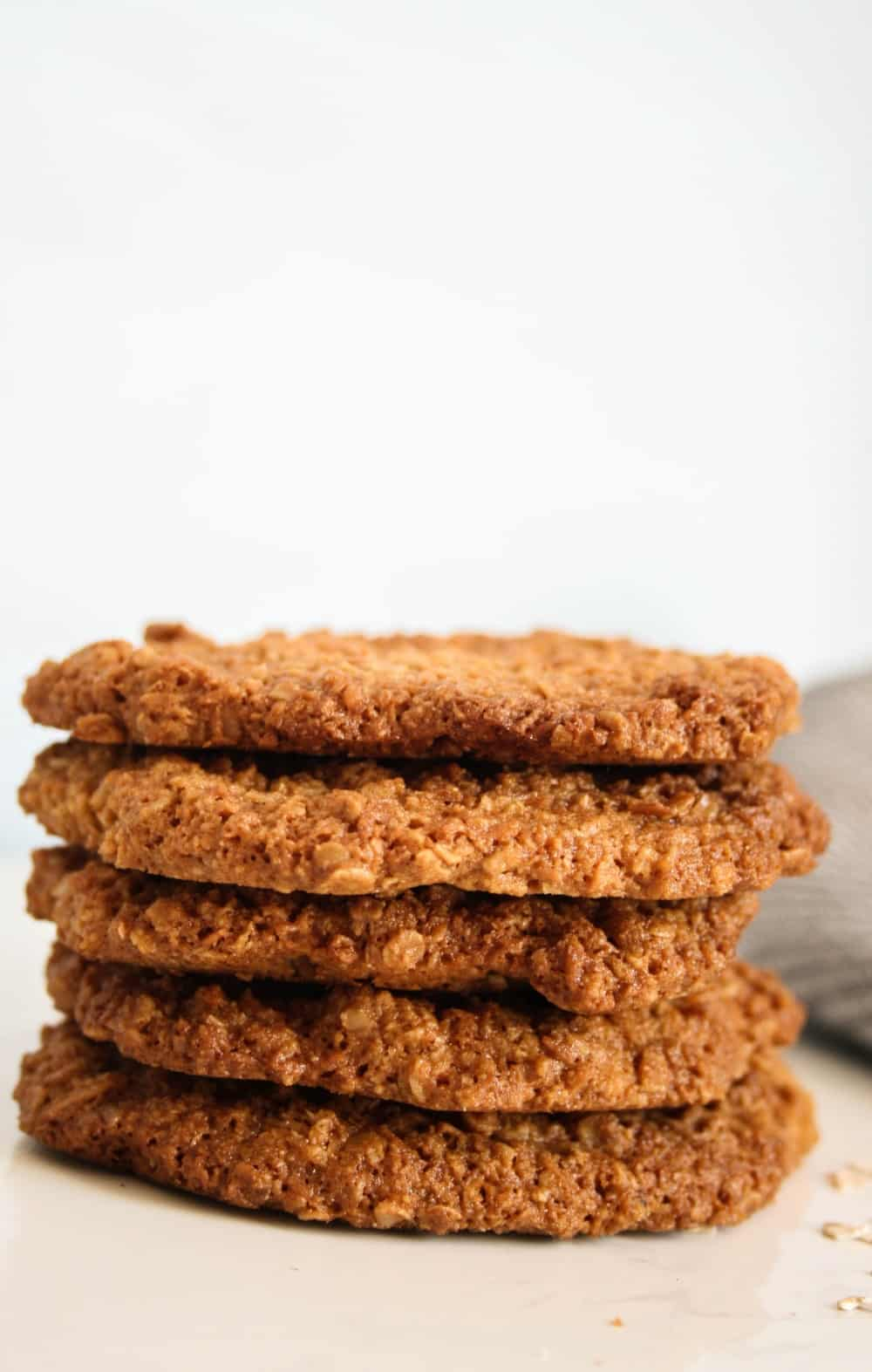 Clean Eating Crispy and Crunchy Coconut and Oat Biscuits.