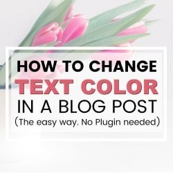 How to Change the Color of some Text in a Blog Post