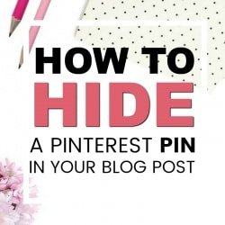 How to Hide a Pin in your Blog Post (Copy and Paste Code)