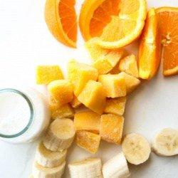 Mango and Banana Tropical Smoothie