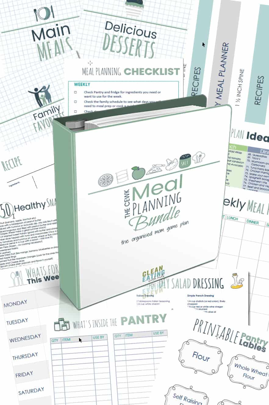 MEAL PLANNING & RECIPE BINDER. A complete all in one meal planning and recipe organisation system. This HUGE Meal planning bundle contains blank recipe templates, organizing printables, money saving tips, recipe cheat sheets and more