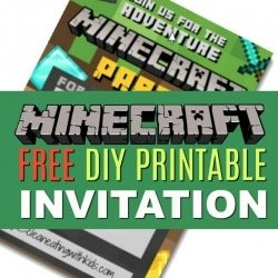 How to host a cheap minecraft birthday party with printables free diy printable minecraft birthday invitation filmwisefo