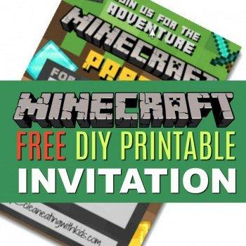 Free DIY Printable Minecraft Birthday Invitation