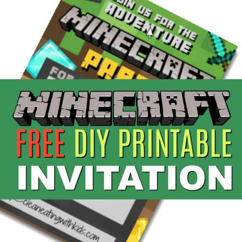 photograph about Printable Minecraft called Totally free Do it yourself Printable Minecraft Birthday Invitation - New
