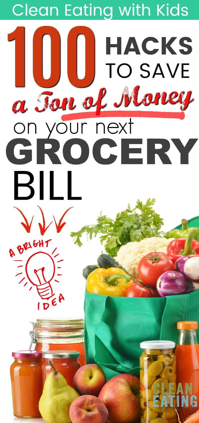 Awesome list of grocery shopping hacks and ideas to do food shopping on a budget. Loved that it wasn't only about cutting coupons and had advice for healthy food for the entire family. This is the ultimate list of tips on how to save money on food and groceries. #savemoney #budgeting #saveonfood