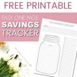 FREE PRINTABLE: Savings Thermometer (Baby Step #1)