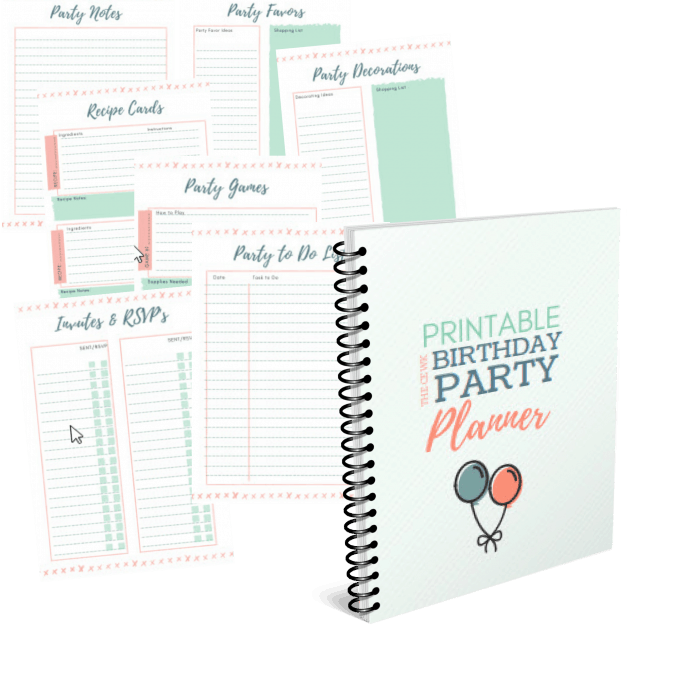 Take the stress out of planning your kids next birthday party with this free printable party planning binder