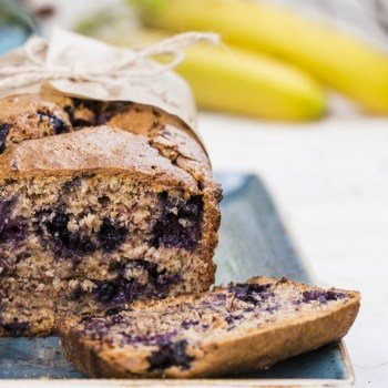 Clean Eating Blueberry Banana Bread
