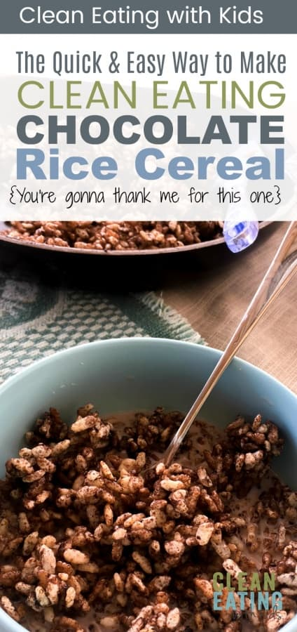 OK, so it's a no brainer. My kids LOVE Coco Pops. Here is a healthy clean eating version that takes about 3 minutes to make. Without the guilt. #cleaneatingrecipes #cleaneatingbreakfast #cleaneatingwithkids