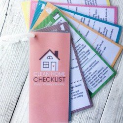 {FREE PRINTABLE} Cute Mini Re-Usable Cleaning Checklist Cards