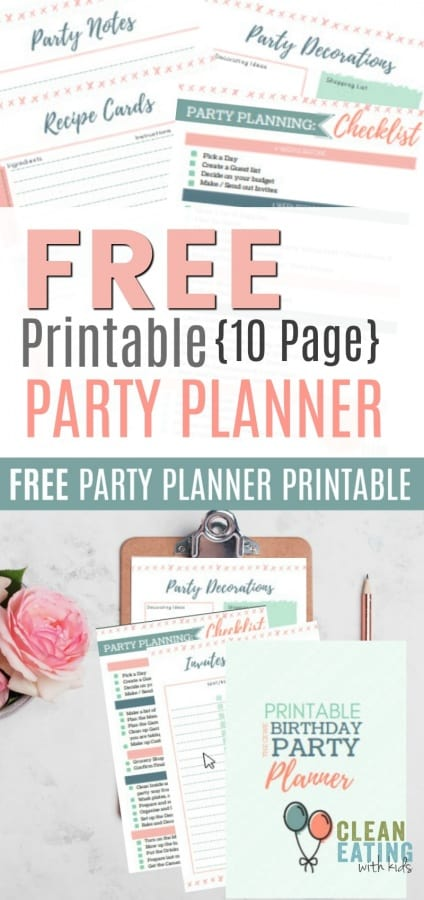 FREE {10 Page} printable party planning binder