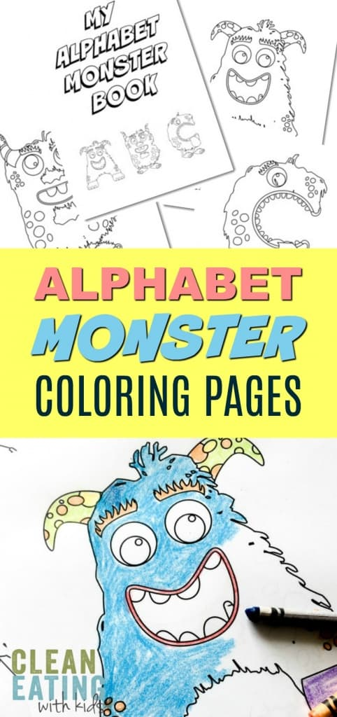 Teach your child to read: Fun Alphabet Monster Coloring Pages