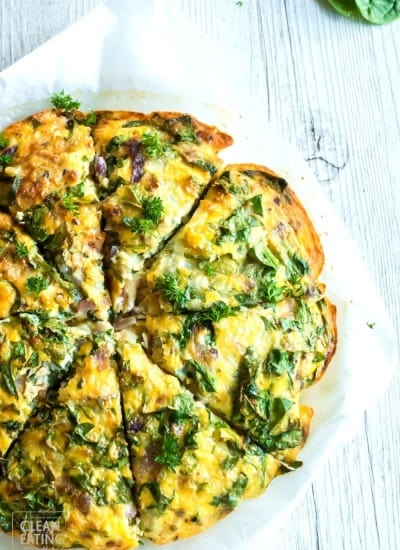 Clean Eating Crustless Spinach Quiche