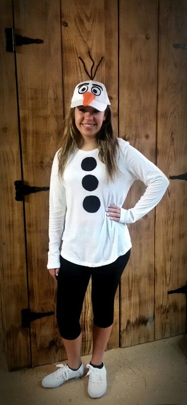 last minute halloween costume - olaf