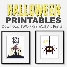 FREE PRINTABLE: Enjoy these TWO Gorgeous Kids Halloween Wall Prints. Simply download and print at home.