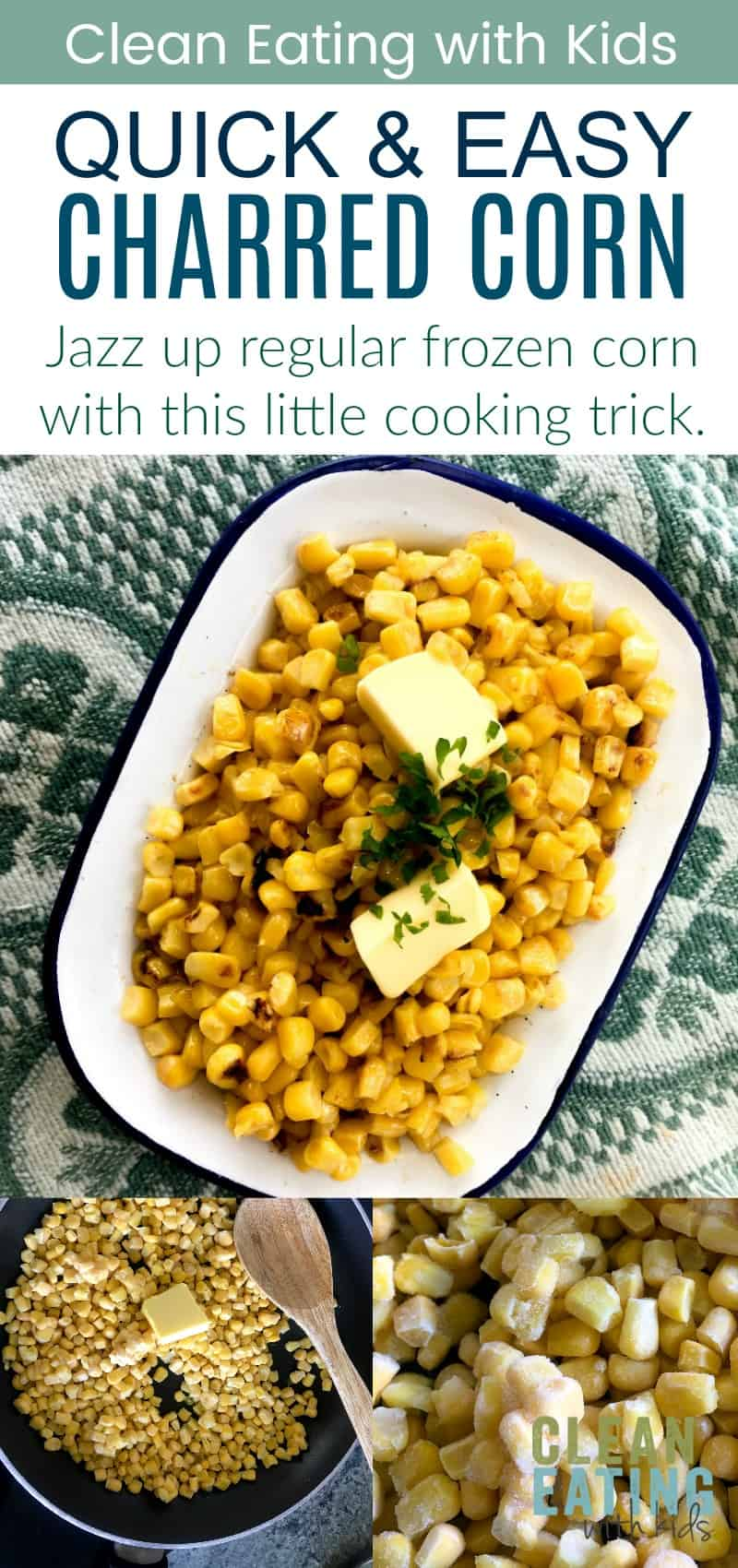 Clean Eating Charred Corn. Jazz up regular ol' frozen corn with this little cooking trick.