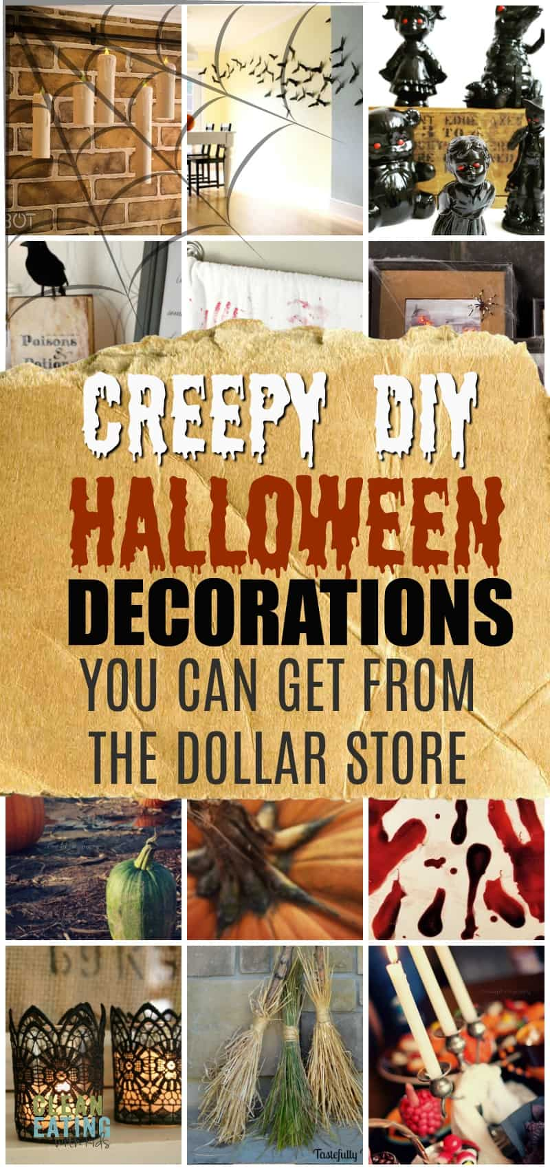 Don't blow the budget with these super easy dollar store diy halloween ideas