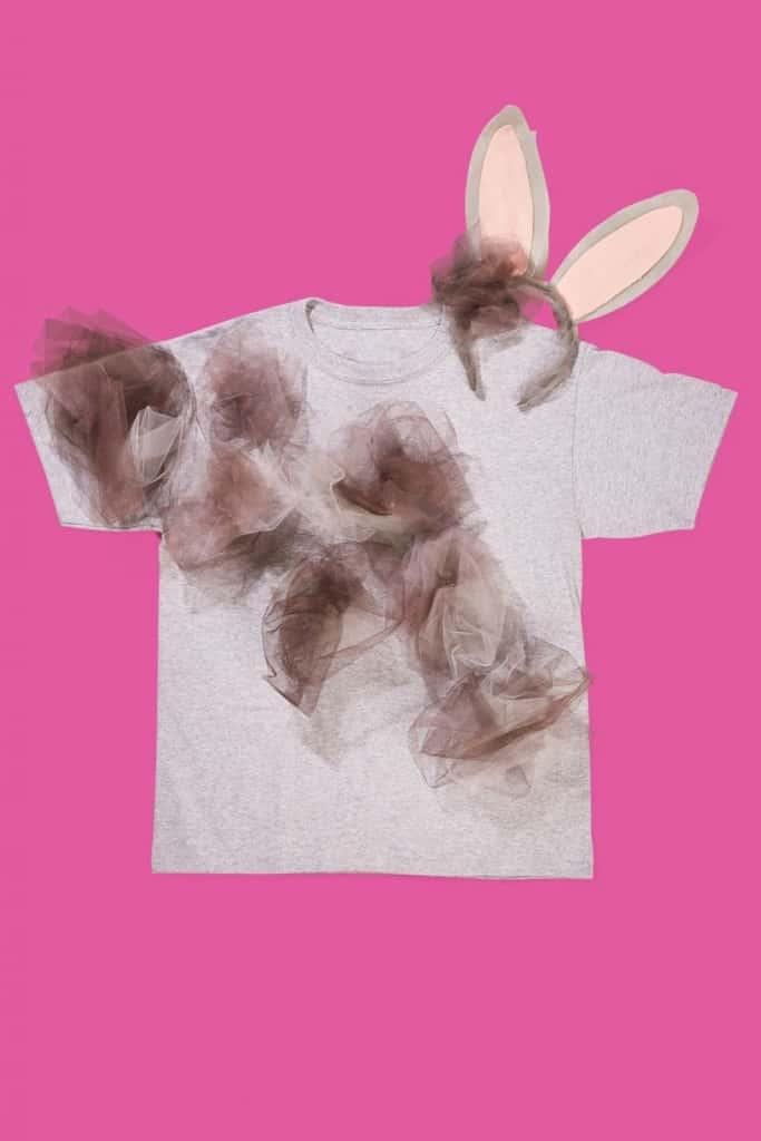 last minute halloween costume - dust bunny