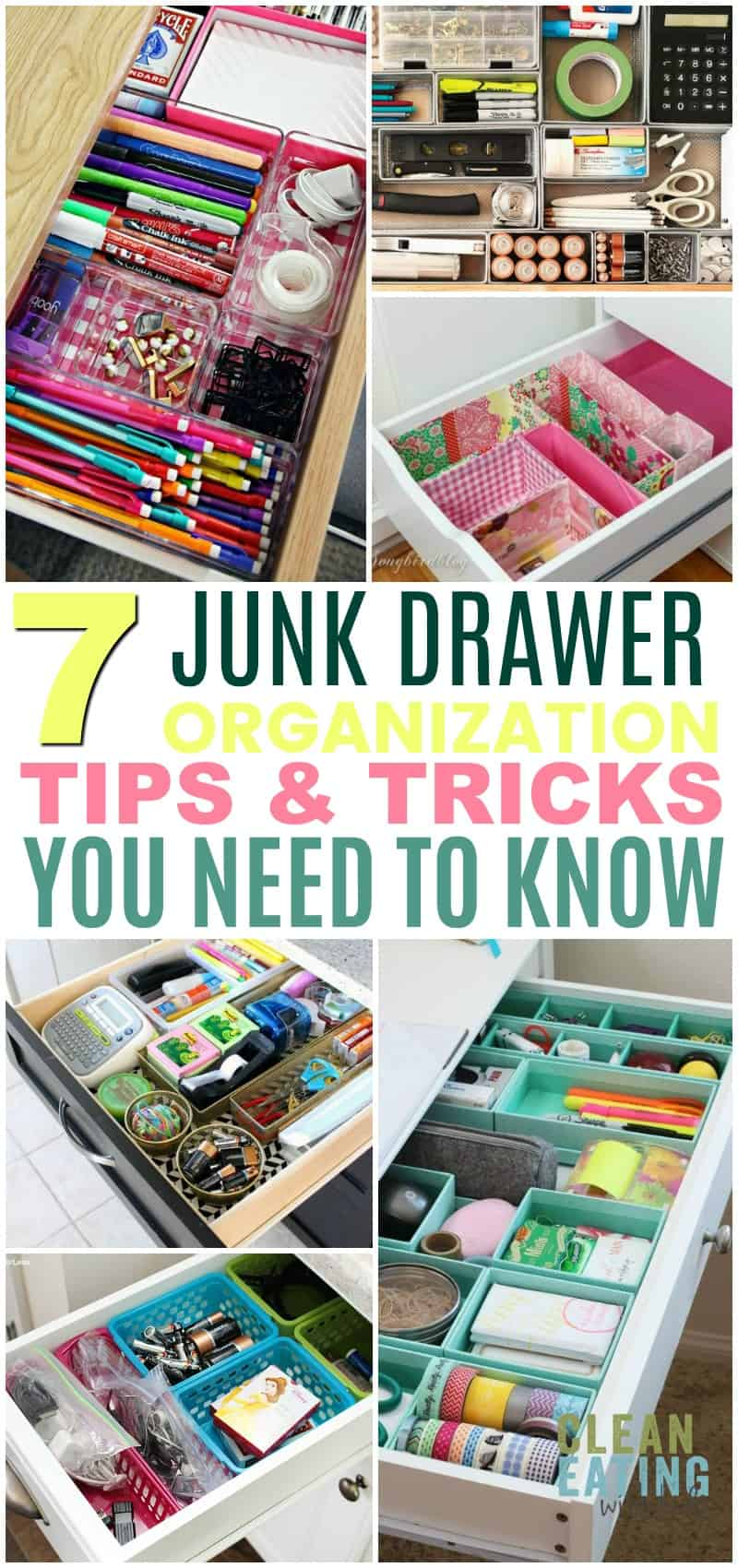 I LOVE these 7 Tips for organizing your junk drawer! I won't be embarrassed about it anymore!