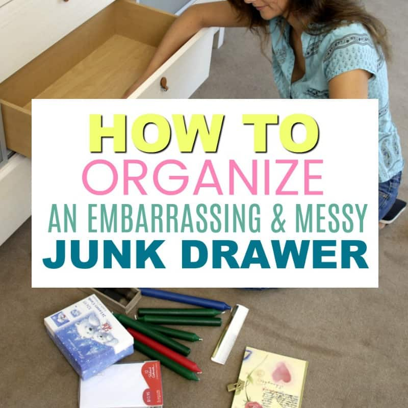 Don't be afraid to have a junk drawer. Creating a catch-all drawer will help you keep counters clear and keep random knick knacks together.