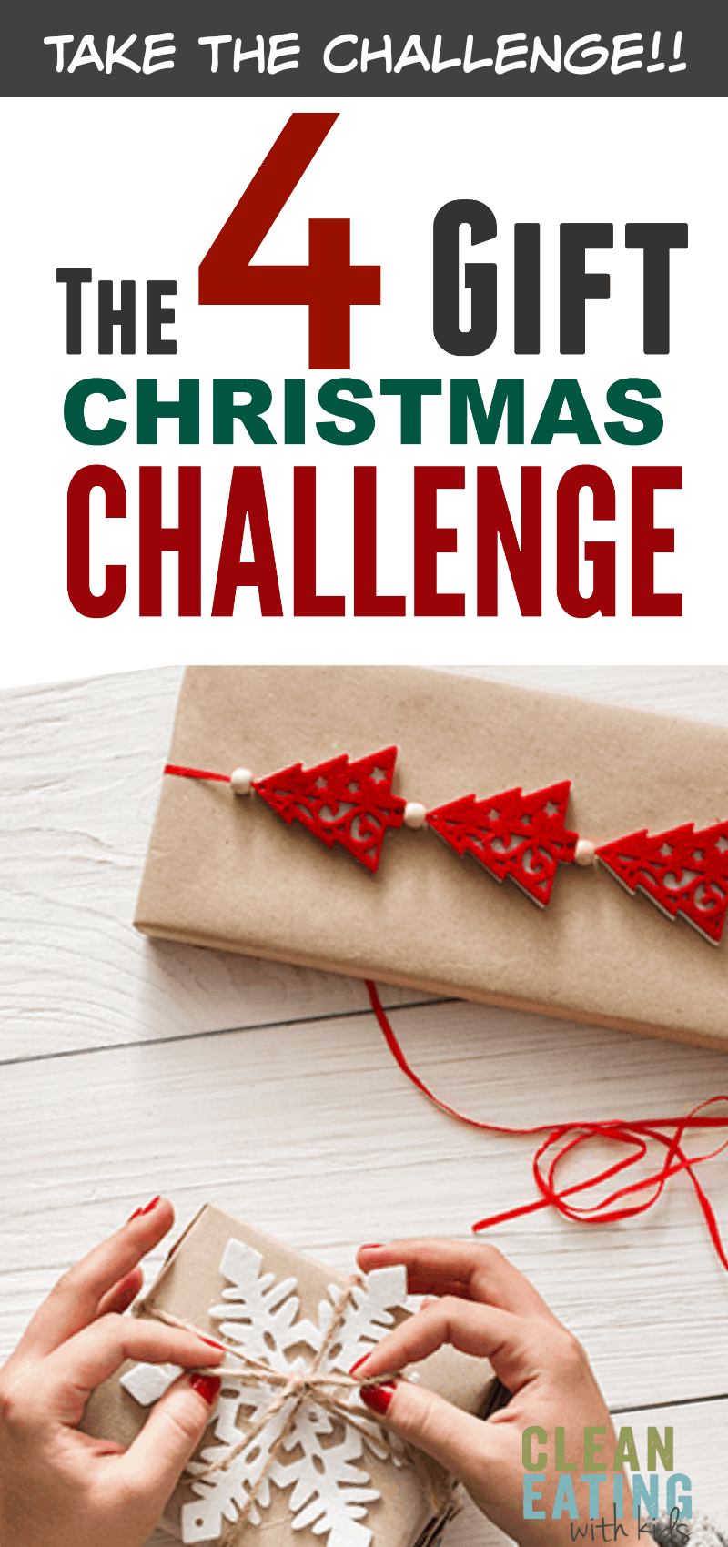 Take the 4 Gift Christmas Challenge this year. This minimalist 4 Gift Rule will change Christmas morning for your family. Less Stress, More Gratitude.