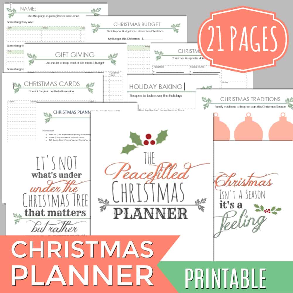 photograph relating to Christmas Planner Printable known as Printable Xmas Planner 21 Webpages - Contemporary Ingesting with little ones