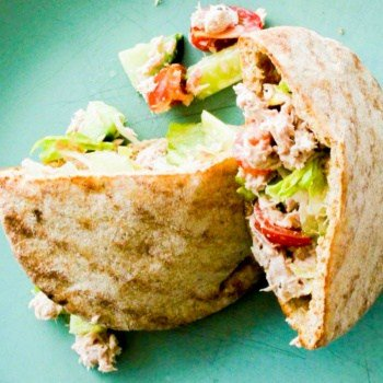 Tuna Salad in Toasted Wholewheat Pita Pockets