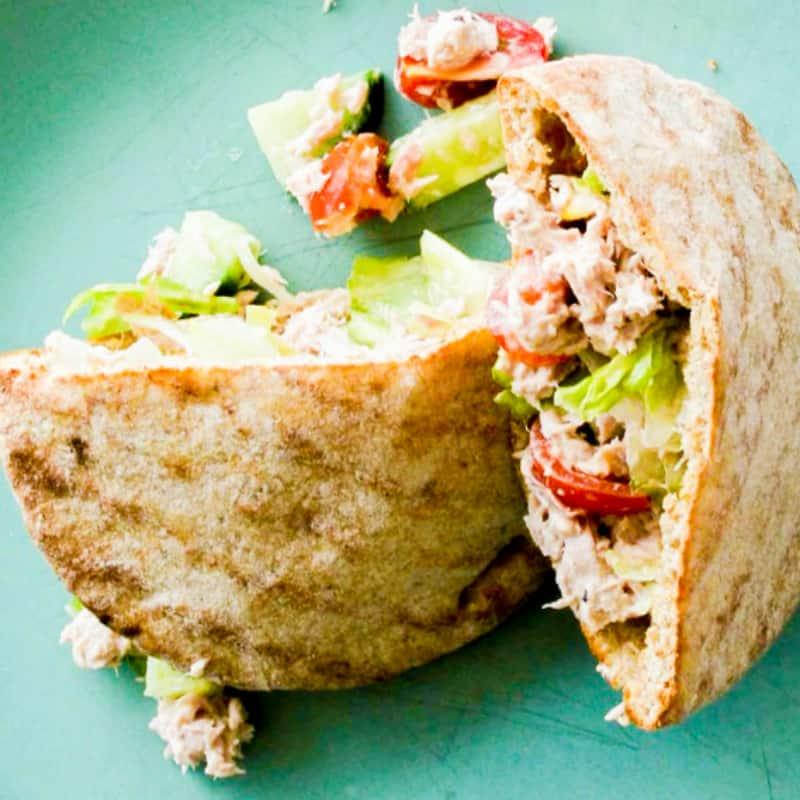 clean eating tuna wholewheat pockets