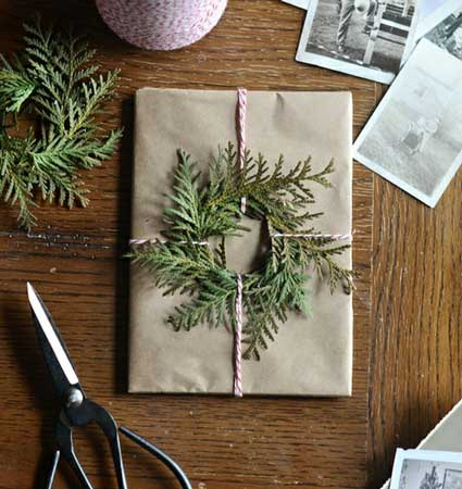 16 Free or Cheap DIY Christmas Gift Wrapping hacks using easy, re purposed materials.