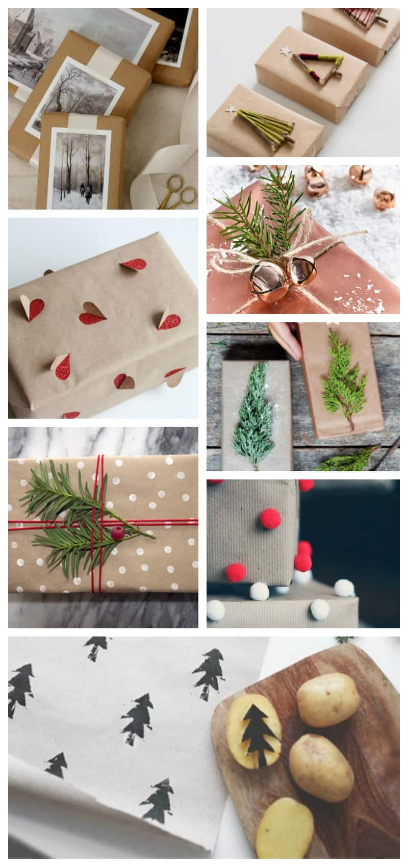 16 Cheap but STUNNING Nature Inspired Christmas Gift Wrapping ideas you can make for less than $1.
