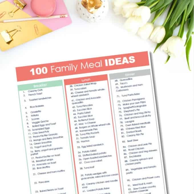 100 family meal ideas