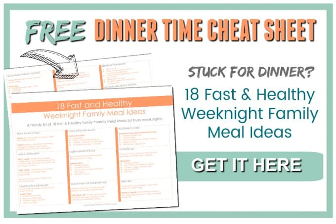 Stuck for Dinner? I totally get it! Here is the cheat sheet I use on days when I have no time or desire to cook up dinner for the family.