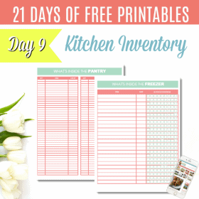 DAY 9: {FREE PRINTABLE} Pantry and Freezer Inventory
