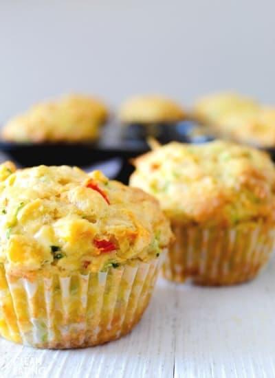 clean eating veggie muffin