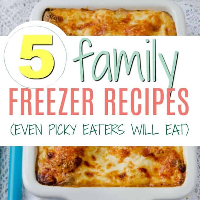 5 FAMILY FREEZER MEALS