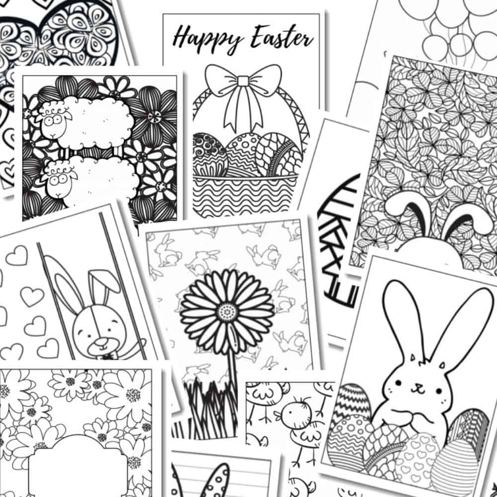 FREE PRINTABLE: Easter Coloring Pages {17 PAGES} - Clean Eating
