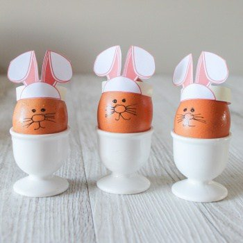 Printable Bunny Eggs for Boiled Eggs