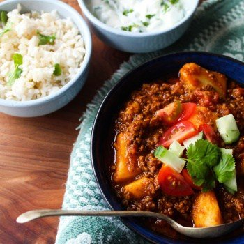 clean eating ground beef mince curry