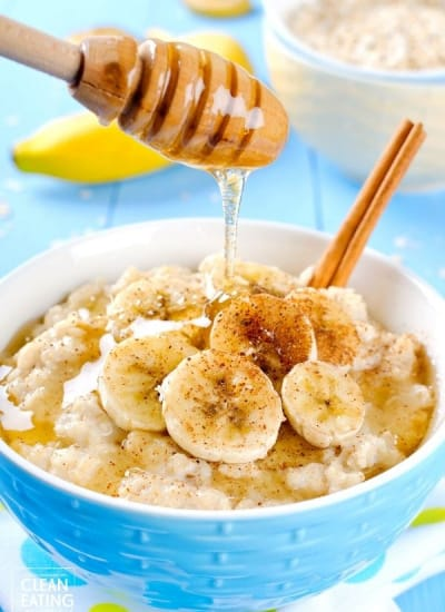 clean eating creamy oat porridge