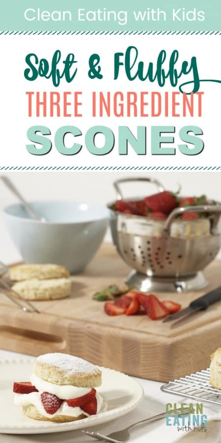 healthy three ingredient breakfast scones