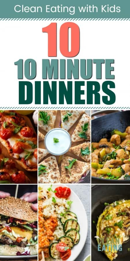fast and healthy 10 minute dinner ideas