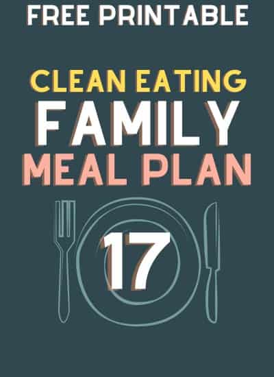 clean eating meal plan 17