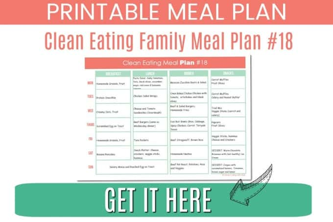 Clean Eating meal plan #18