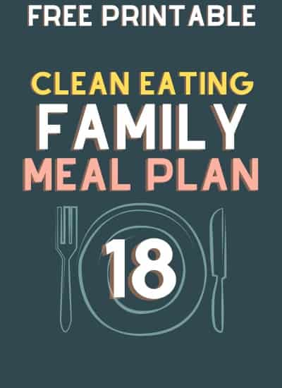 clean eating meal plan 18