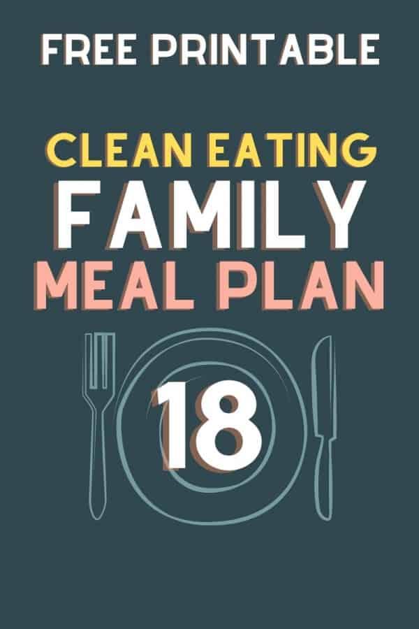 clean eating meal plan 18